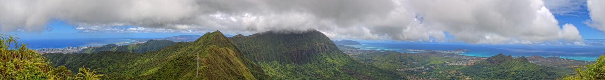 Atop Ka'au Crater