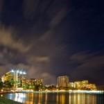 Waikiki at Night from the Hilton Lagoon